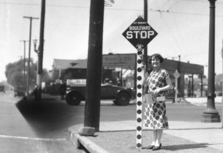 first stop signs