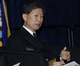 Admiral Tomohisa Takei Chief of Staff of the Japan Maritime Self-Defense Force, on Feb. 18, 2016. US Naval Institute Photo