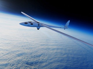 Airbus glider in space