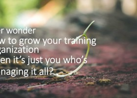 how to manage your training organization with few administrators