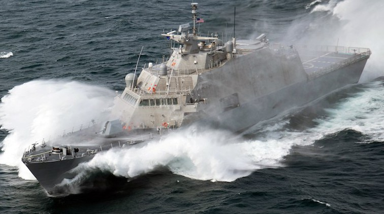 USS Milwaukee (LCS 5) during sea trials, Sept. 18. 2015. Photo: Lockheed Martin