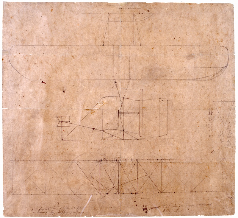1903 Wright Flyer Sketch Repoduction Drawing